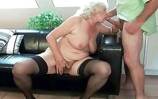 busty granny acquires her hairy twat screwed