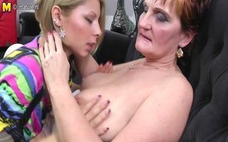 grandma teaching young girl a lesbian love