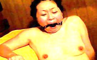 japanese serf in sauna receives fingered