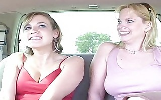 dilettante pleasant blond lesbo pair with natural
