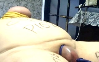 chubby sub spanked and abused