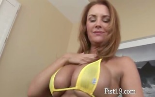 naughty glamour fisting herself