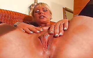 older golden-haired enjoys her own body dbm clip