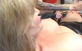 golden-haired mistress with 10 tranny serf part