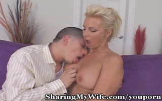 cougar seduces youthful cub for her fun