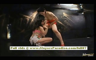 maria and osawa chinese gals caress every others