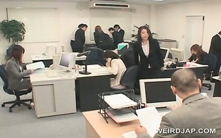 agreeable oriental office chick receives sexually
