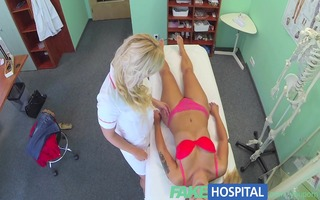 fakehospital nasty golden-haired nurse sexually