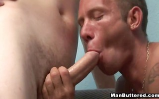 massive cum facial and filthy anal fucking