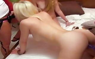 lascivious blond lesbian babes ding-dong fuckfest
