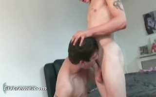 sucking on his large homosexual chap pole