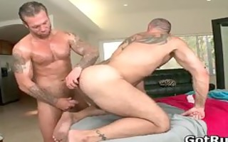 muscled hunk with tattoos fucking part6