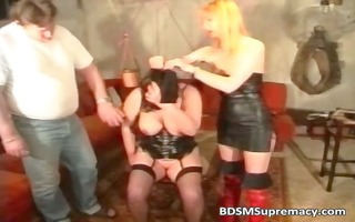 corpulent aged wench can bdsm games as she is