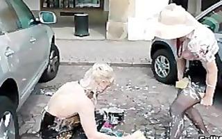 blond euro hottie receives overspread