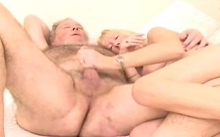 shaggy granddad with wife