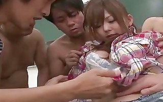 9 japanese lads sharing a perverted hairy legal