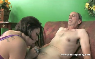 grand-dad copulates a slim floozy with miniature