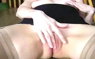 masturbation and jism fountain on firm titty