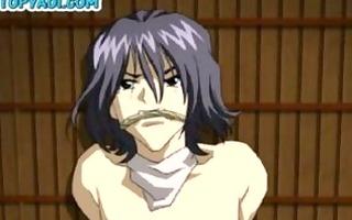 tied-up anime twink receives his virgin backdoor