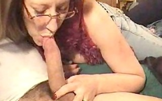 aged woman sucking lengthy penis