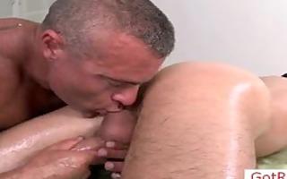 hawt massage pro anal drilling his client part1