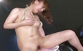 japanese playgirl toying her needy vagina