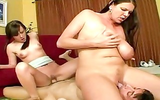 screwed up three-some with milf and coed