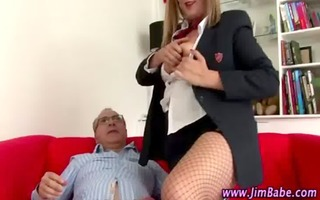 wicked schoolgirl sucks oldie