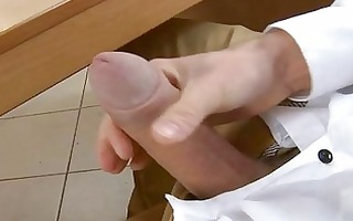 youthful fellow is arousing guy with dong sucking