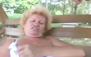 bushy granny effie anal outdoor