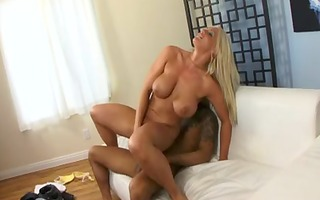 sexually sexually excited blond with big pantoons