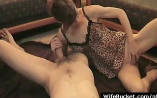 wife takes worthy care of hubby
