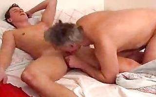 older homo dad gives youthful guy a oral