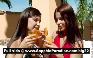 cute brunete lesbians licking and fingering bawdy