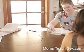 moms teach sex - mommy turns study time into fuck