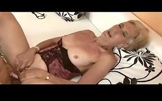 unshaved blonde granny is a doxy by troc
