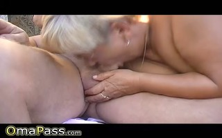 old man and boy fucking bulky grandma outdoors