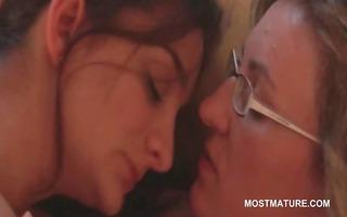 aged lesbos giving carpet munch in erotic scene