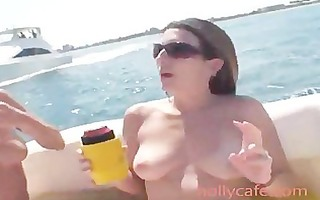excited lesbians fucking at the boat amateur