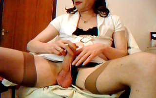transvestite retro nylons rod and ball play