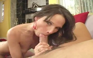 mature woman disrobes for a creampie sex video