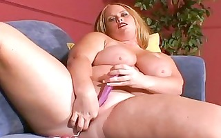 breasty milf lady plays with her sex toys
