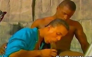 impure homosexual guys eat and slip giant sex toy