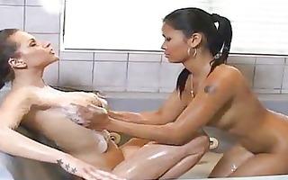 fleshly lesbo soapy massage
