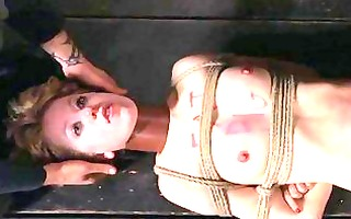 gagged girl with clamped nipps acquires joy