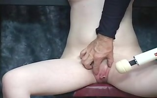 mate takes fake rod to young bondaged blonds pale