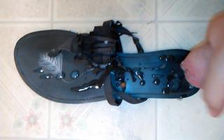 cum on sandal!