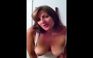 filthy talking milf self-shot masturbation