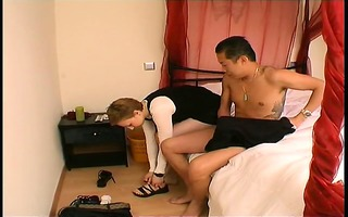 rachelle drilled by an oriental chap