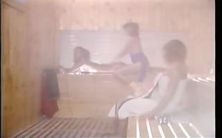 vintage porn - aerobic lesbos in sauna